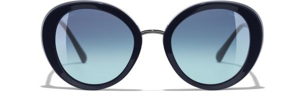Chanel - lunettes - Optique Debauge verres colorés bleu